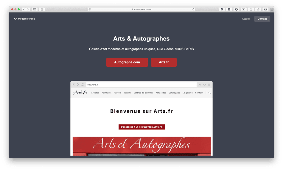 art moderne online portfolio bldwebagency agence web