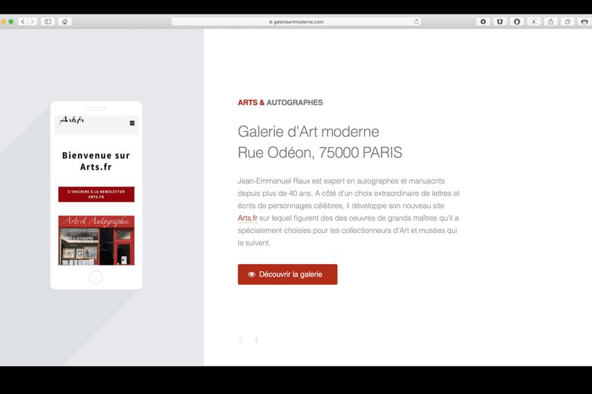 galerieartmoderne com portfolio bldwebagency agence web