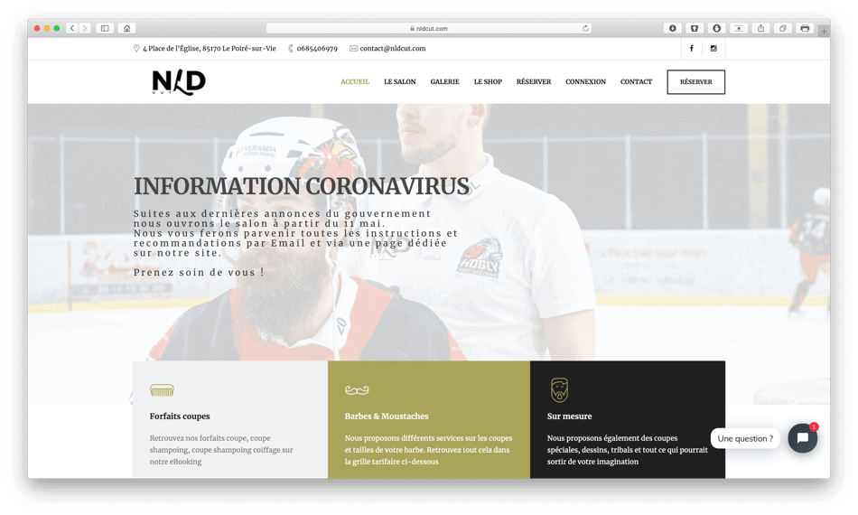 nldcut barbershop portfolio bldwebagency agence web