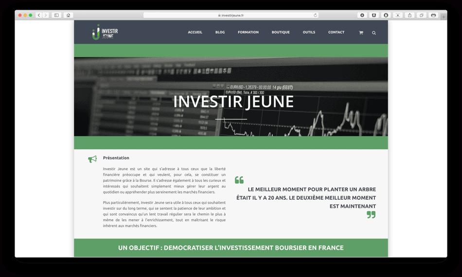 investirjeune portfolio bldwebagency agence web