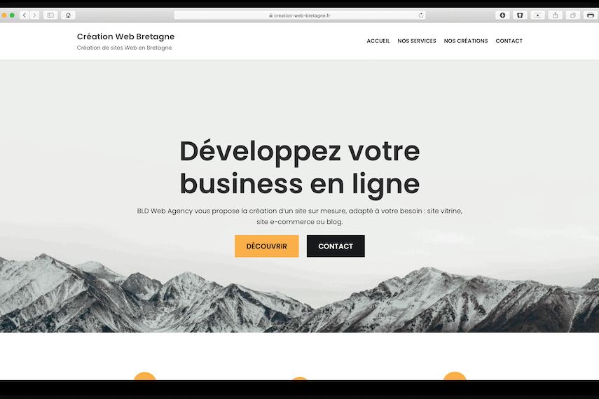 creation web bretagne bldwebagency design webmaster