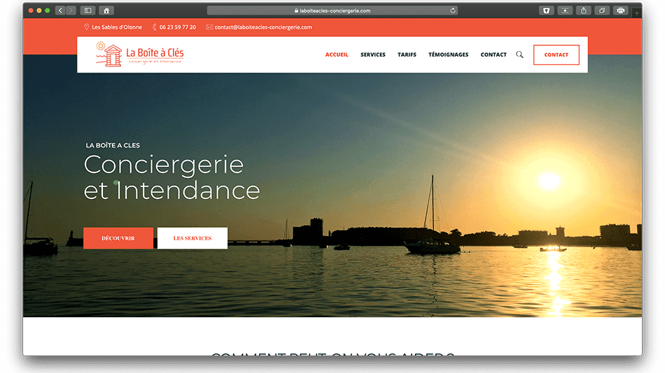 laboiteacles conciergerie bldwebagency vendee olonne les sables agence creation wordpress