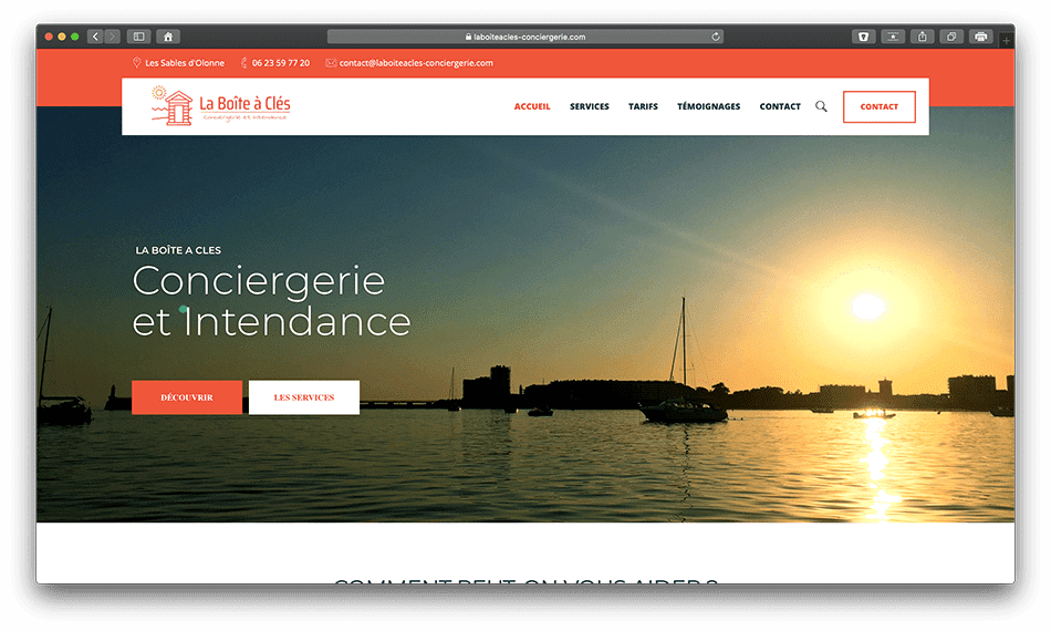 laboiteacles conciergerie bldwebagency vendee olonne les sables agence creation wordpress